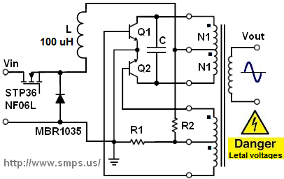 Current-fed inverter circuit