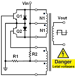Royer-based inverter schematic
