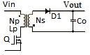 Flyback converter diagram